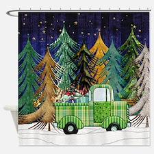 Harvest Moons Christmas Trip Shower Curtain