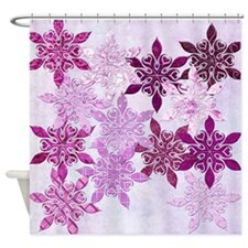 Harvest Moons Country Snowflake Shower Curtain