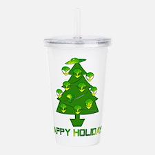 Alien Christmas Tree Acrylic Double-wall Tumbler