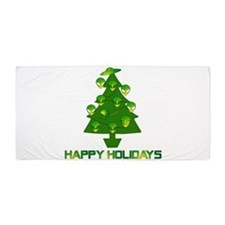 Alien Christmas Tree Beach Towel