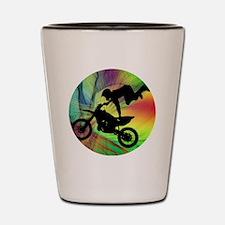 Funny Dirtbikes Shot Glass