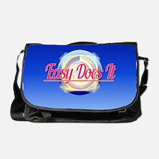 Easy Does It Logo Style Messenger Bag