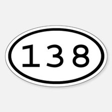 138 Oval Oval Decal