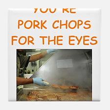 pork chop lover Tile Coaster