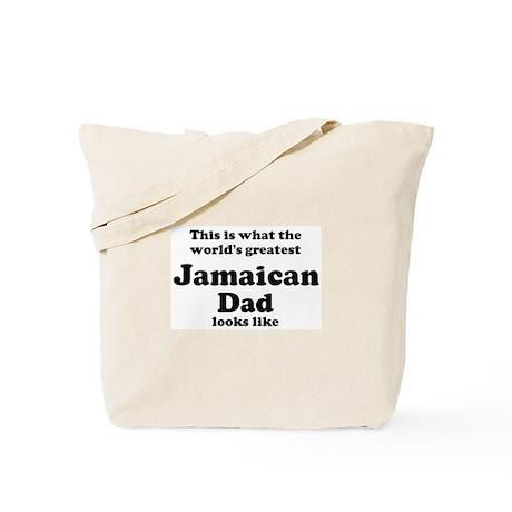 Jamaican dad looks like Tote Bag