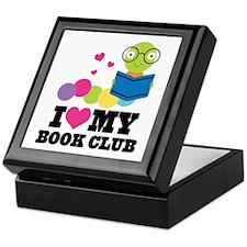 Book Club Bookworm Keepsake Box
