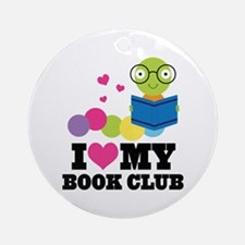 Book Club Bookworm Ornament (Round)