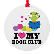 Book Club Bookworm Ornament