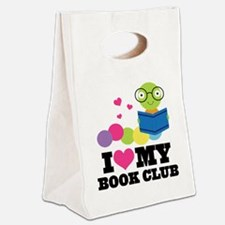 Book Club Bookworm Canvas Lunch Tote