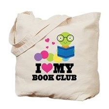 Book Club Bookworm Tote Bag