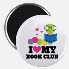 Book Club Bookworm Magnet