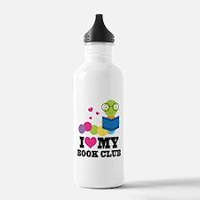 Book Club Bookworm Water Bottle