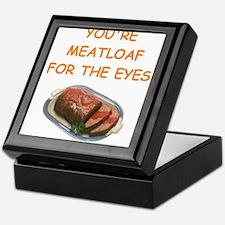 meat loaf lover Keepsake Box