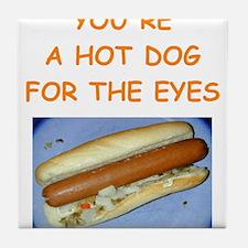 hot dog Tile Coaster