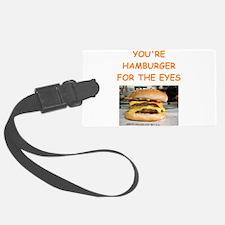 hamburger Luggage Tag