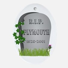 R.I.P. Plymouth Ornament (Oval)