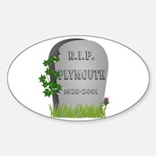 R.I.P. Plymouth Decal