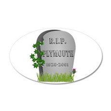 R.I.P. Plymouth Wall Decal
