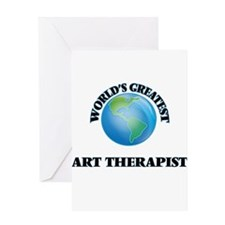 World's Greatest Art Therapist Greeting Cards