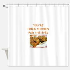 fried chicken lover Shower Curtain