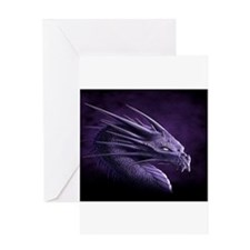 purple dragon Greeting Cards