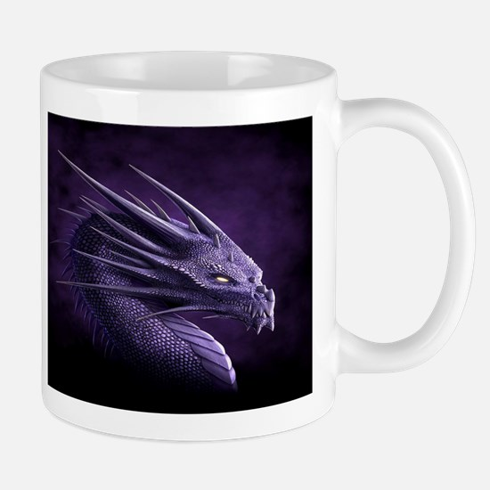 purple dragon Mugs