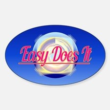 EASY DOES IT logo style Decal