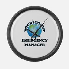 Unique Emergency managers Large Wall Clock