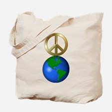 Peace on Earth Word Puzzle Version Tote Bag