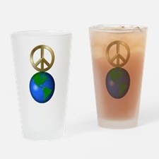 Peace on Earth Word Puzzle Version Drinking Glass