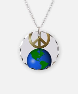 Peace on Earth Word Puzzle V Necklace