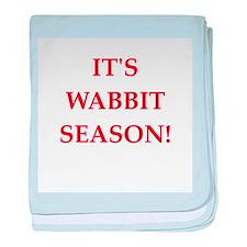 wabbit season baby blanket