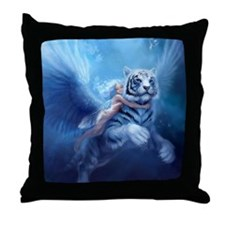 fairy and flying tiger Throw Pillow