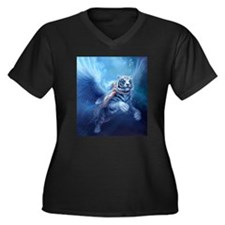 fairy and flying tiger Plus Size T-Shirt