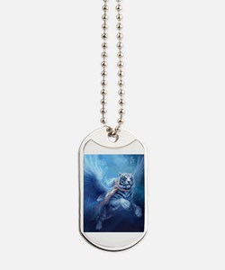 Cute White tiger Dog Tags