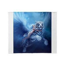 Cute White tiger Throw Blanket