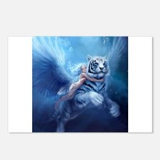 Unique White tiger Postcards (Package of 8)
