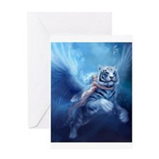 fairy and flying tiger Greeting Cards