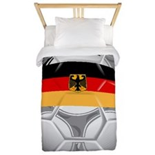 Germany Soccer Ball Twin Duvet