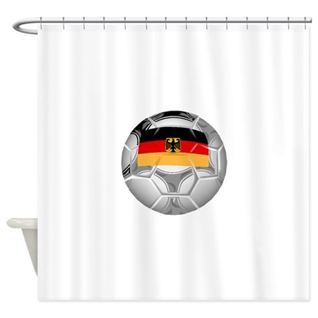 Germany Soccer Ball Shower Curtain
