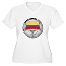 Colombia Soccer Ball Plus Size T-Shirt