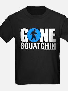 Gone Squatchin White/Blue Logo Womens Dark Shir T-