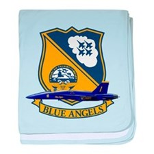 Cute Blue angels baby blanket