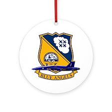 Cute Aircraft commander Ornament (Round)
