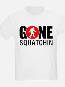 Gone Squatchin Black/Red Logo Mens Shir T-Shirt