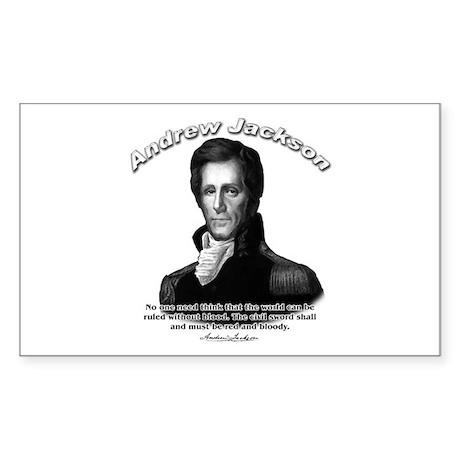 Andrew Jackson 04 Rectangle Sticker