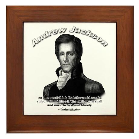 Andrew Jackson 04 Framed Tile