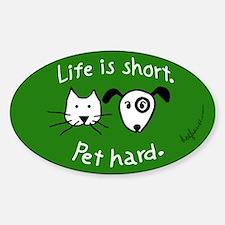 Pet Hard (Pets) Sticker (Asparagus Oval)
