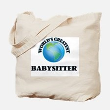 Unique Worlds greatest babysitter Tote Bag