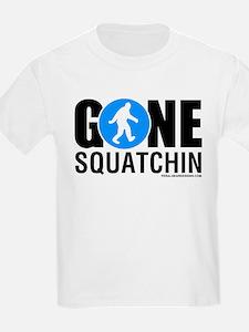 Gone Squatchin Black/Blue Logo Mens Shir T-Shirt